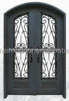 Art Wrought Iron Entry Door, doors and windows Exterior Glass Doors Manufacturer