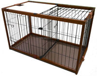 Eco-friendly bamboo pet cages dog kennel