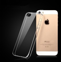 high quality crystal clear transparent soft silicon tpu Case for iphone5s 5g hyaline spft case