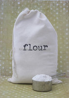 Nature eco-friendly recycled cotton flour bags for sale