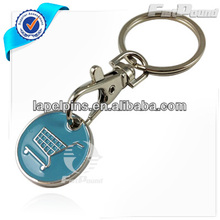 Custom Metal Trolly Coin Keychain in Silver Finishing