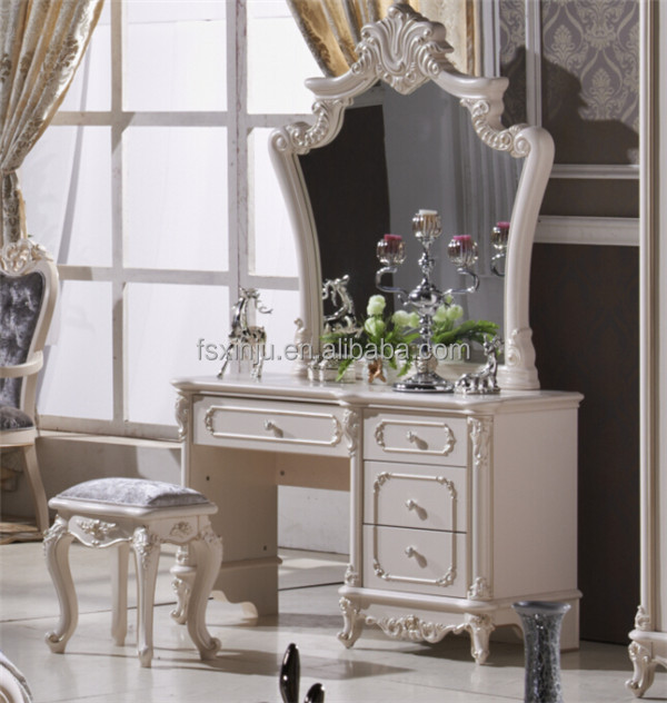 Dresser table with mirror alibaba antique style bedroom for Commode antique avec miroir