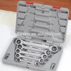 Venda quente Hangzhou fabricante dupla Ratchet Wrench Set com caso de molde de sopro deslocamento anel