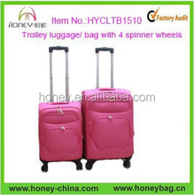 2015 Newest Wholesale 4 wheels Trolley Bag Luggage Bag