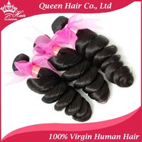 Wholesale Unprocessed 100% Virgin Queen hair 5A Brazilian Loose Wave, 3 bundle DHL Free Shipping
