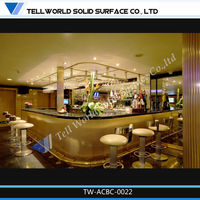 Top 10 high quality translucent panel solid surface slab led round cafe bar counter design
