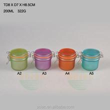 200ml round airtight clip top glass storage bottles & Hotsale 200ml glass jars