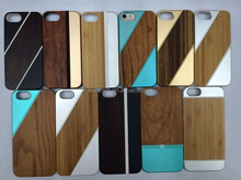 2015 New Products Metal Aluminum Wood Bamboo Wooden Case for iPhone 5S Metal Wood Case