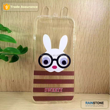 Lovely animal series bunny ear case for iphone 5 cover with rolling eyes