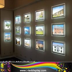 Acrylic LGP Wall Hanging Crystal LED Light Frame