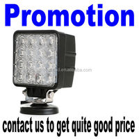 Factory direct led fog lamp square 48w led work light for truck off road vehicle heavy duty fork trains boats bus