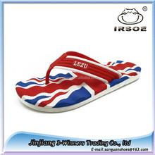 High quality printed flag men EVA slippers