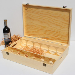 singlerow handmade unfinished wholesale 6 bottle packing use wooden wine boxes