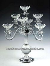 Moda 7 cabezas de cristal candelabro de vidrio para la venta( bs- ch046)