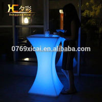 Illuminate Plastic Bar Furniture Night Club Wine Table Wedding Party Cocktail Tables