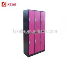 Qatar New Design Cold Rolled Steel Detachable 6 Door Wardrobe Steel Clothes Almirah Metal Closet Bureau