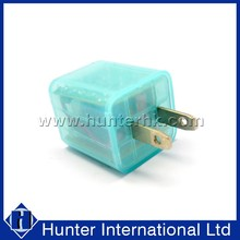 Portable Change Color For 2 Ports Charger Adaptor