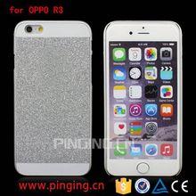 Luxury flash powder design for OPPO R3 back cover,back cover for OPPO R3 PC case
