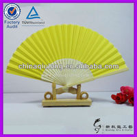 Advertising Handicraft Yellow Paper Hand Fan Wholesale