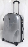 ABS + PC travel luggage with full zipper connecting the case body, luggage bag, luggage trolley