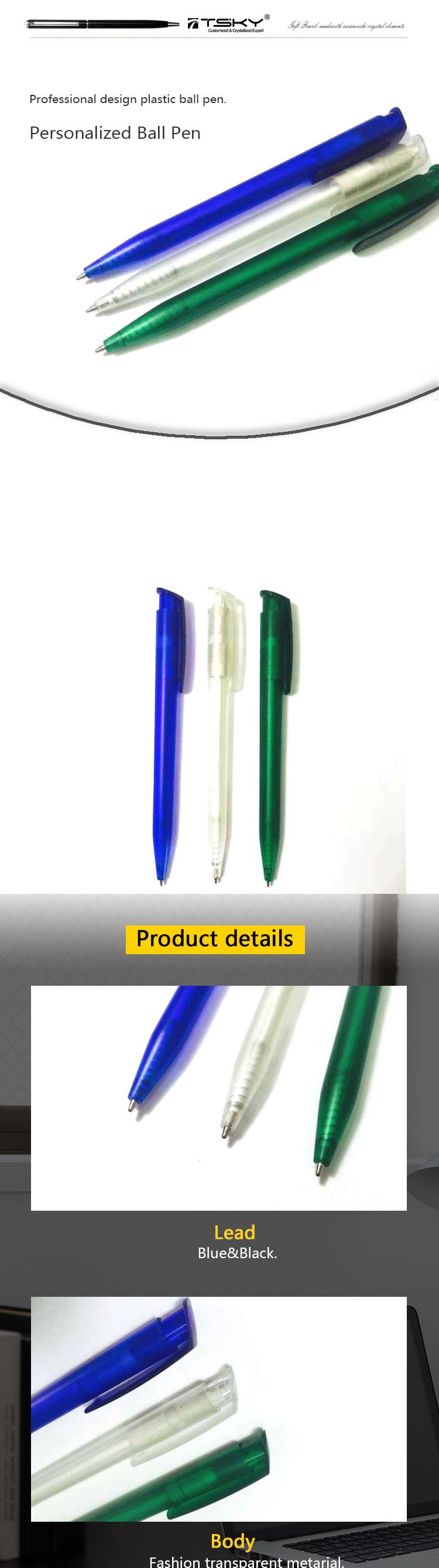 Персонализированные пластиковый прозрачный настроить ручка