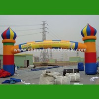 Customized inflatable rainbow arch for event H12-0145