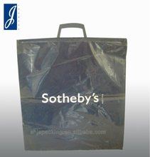 LDPE plastic shopping bag with clip close handle
