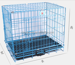 two doors iron wire dog cage