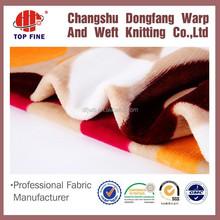 custom flannel fabric printing amall flower baby flannel fabric