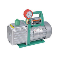 Single stage electric vacuum pump with gauge and valve for new refrigerant