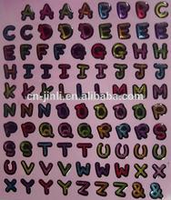 customed de epoxy de vinilo adhesivo letra del alfabeto y número de etiqueta para los coches