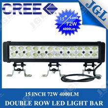36w 54w 72w off road led light bar waterproof ip67 12 volt led light bar