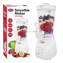 1.5L Jar Electric Blender Smoothie maker as seen on tv with 450W, 2 Speed & Pulse, Stainless Steel Blade and Pouring Tap