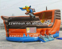 large bounce house with slide, hot sale CE inflatable pirate jumper,inflatable bouncer house