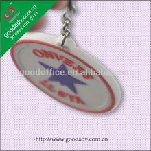 venta al por mayor de moda 2d personalizado en forma de llavero de pvc blando