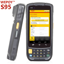 Android touch screen handheld pda with 1D 2D barcode scanner