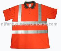 100% polyester pique reflective safety Polo shirt EN471