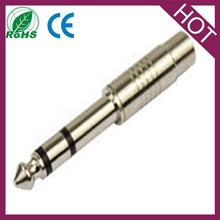 6.35mm stereo male to rca female adapter