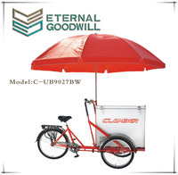 Ice cream cargo bike /bicycle/cycle with sigle speed UB 9027BW