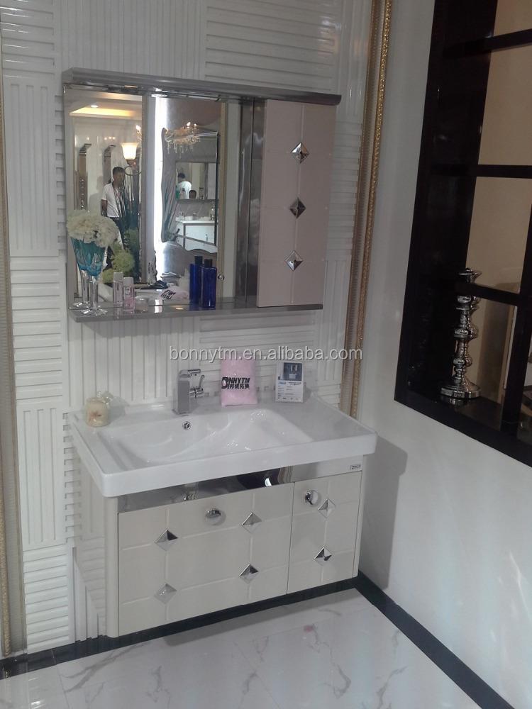 bonnytm mirror wall hung stainless bathroom cabinet bn 8383
