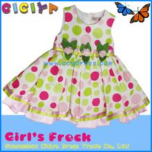 100%cotton frock kids girls summer party dresses designer frocks for kids