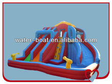 commercial inflatable red water slide, inflatable water slide for kids