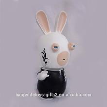 2015 nuevo producto conejo <span class=keywords><strong>de</strong></span> <span class=keywords><strong>dibujos</strong></span> <span class=keywords><strong>animados</strong></span> divertido pequeño figurines, funny animal figurines