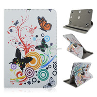 White Butterfly 360 Rotate Flip Stand Cover Case For 7/8/10 inch Universal Tablet PC