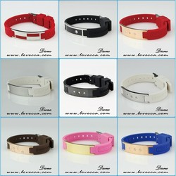 316L Stainless Steel Jewelry Factory Wholesale silicone energy band