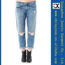 jeans mujer agujero fotos de moda los <span class=keywords><strong>pantalones</strong></span> <span class=keywords><strong>vaqueros</strong></span> de los <span class=keywords><strong>pantalones</strong></span> <span class=keywords><strong>vaqueros</strong></span> (JXL20950)
