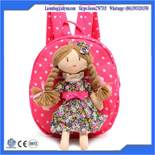 2015 New Product factory wholesale girl use shape plush toy backapck school bags for girls