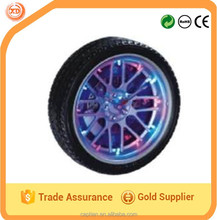 Tyre wall clock with LED light for advertising