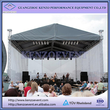 outdoor stage pitched pvc truss roofing