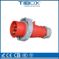 Nylon PA6 CEE/IEC male and female waterproof electric power socket plug